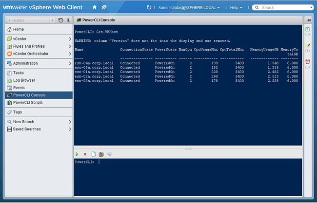 PowerActions for vSphere Web Client   VMware Labs
