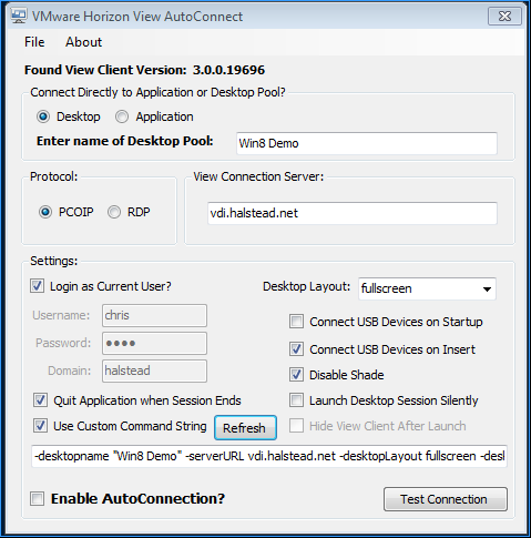 View Auto-Connection Utility | VMware Labs