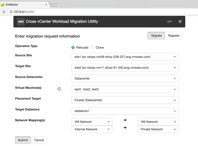 Cross vCenter Workload Migration Utility | VMware Labs
