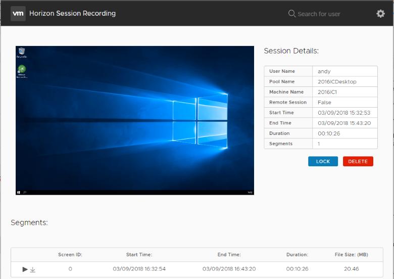Horizon Session Recording | VMware Labs