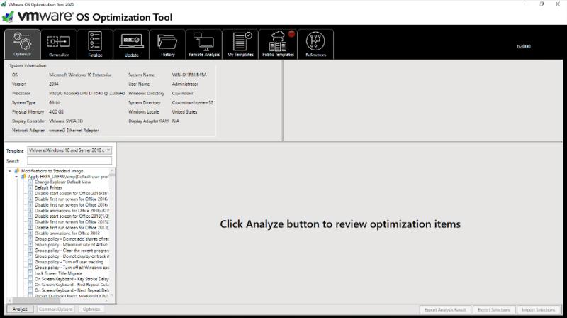 Vmware Os Optimization Tool Vmware Flings